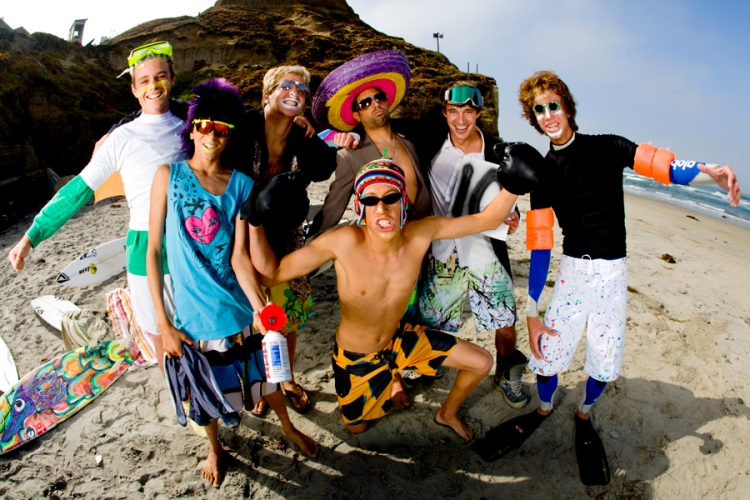 The boys goofing off for a Transworld shoot. Left to right: Sneed, Nick Suhadolink, me, Ryan Burch, Nick Kovack Kyle Knox and Eric Snortum